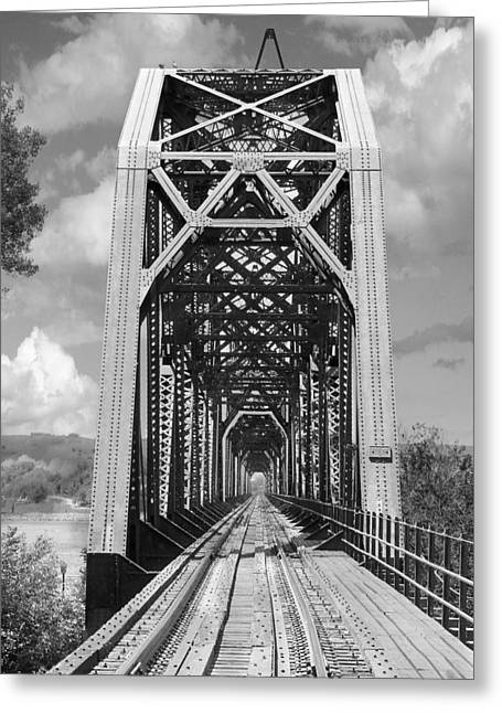 The Chicago And North Western Railroad Bridge Greeting Card by Mike McGlothlen