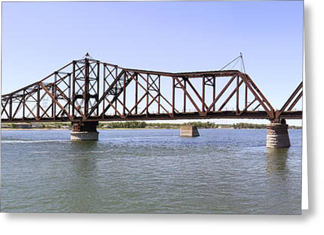 The Chicago And North Western Railroad Bridge Panoramic Greeting Card