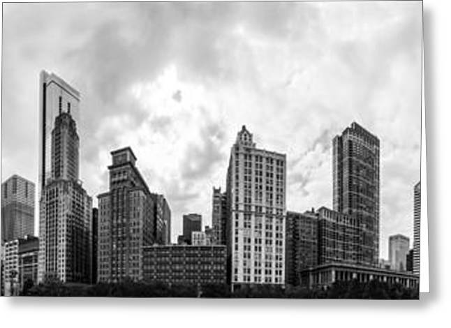 The Chicago Bean And Skyline Greeting Card by Semmick Photo