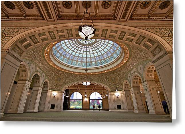 The Chicago Cultural Center Greeting Card by John Babis