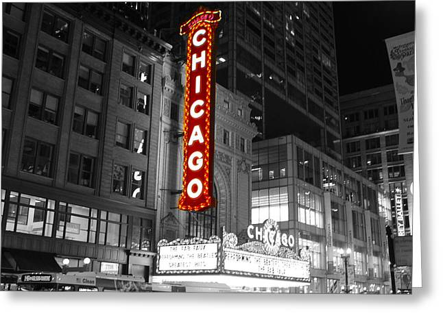 The Chicago Theatre Greeting Card by Jerome Lynch