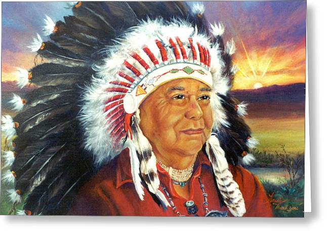 The Chief  Greeting Card by Gracia  Molloy