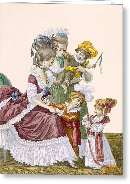 The Children Of The Comte Dartois Greeting Card