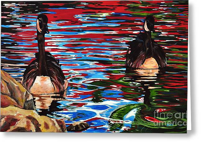 The Chincgacousy Lovers 2 Greeting Card by Henny Dagenais