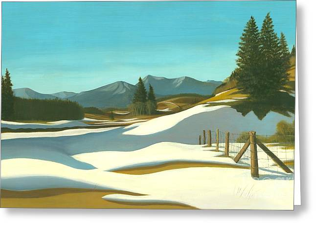 The Chinook Wind Blows Greeting Card by Michael Swanson