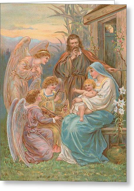 The Christ Child Greeting Card by English School