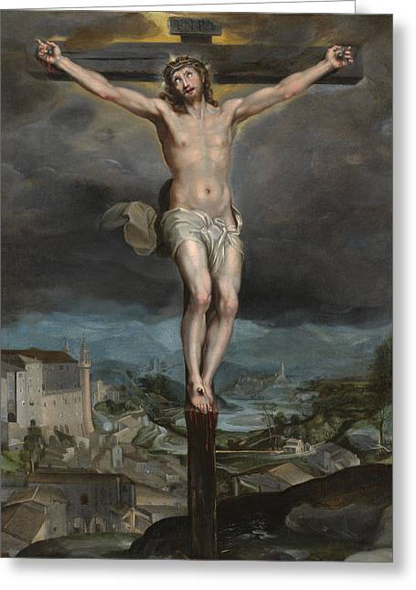The Christ Expiring On The Cross Greeting Card by Federico Barocci