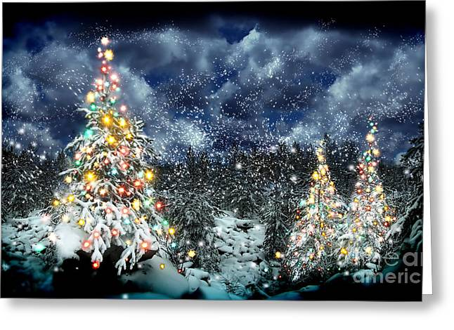 The Christmas Tree Greeting Card by Boon Mee