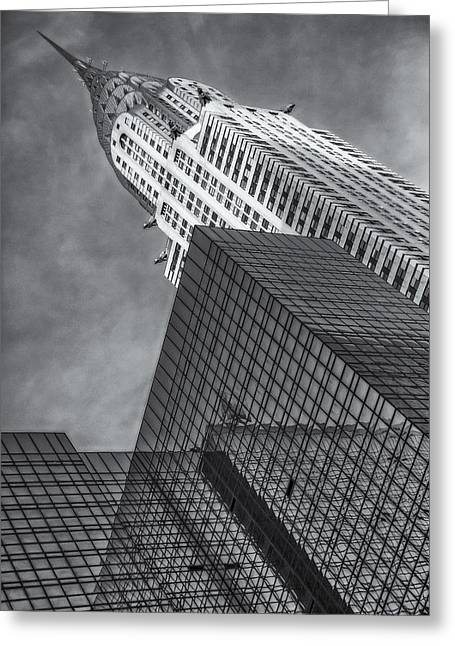 The Chrysler Building Bw Greeting Card