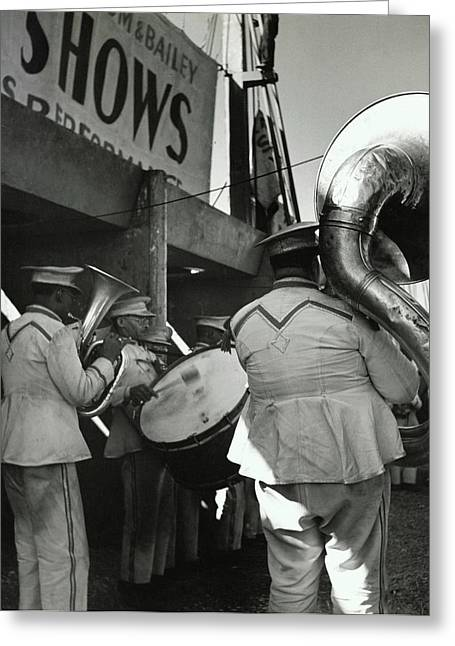 The Chubby Circus Band Greeting Card by Toni Frissell