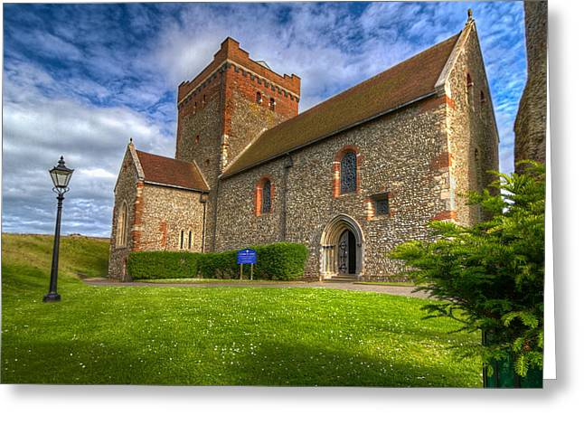The Church At Dover Castle Greeting Card by Tim Stanley