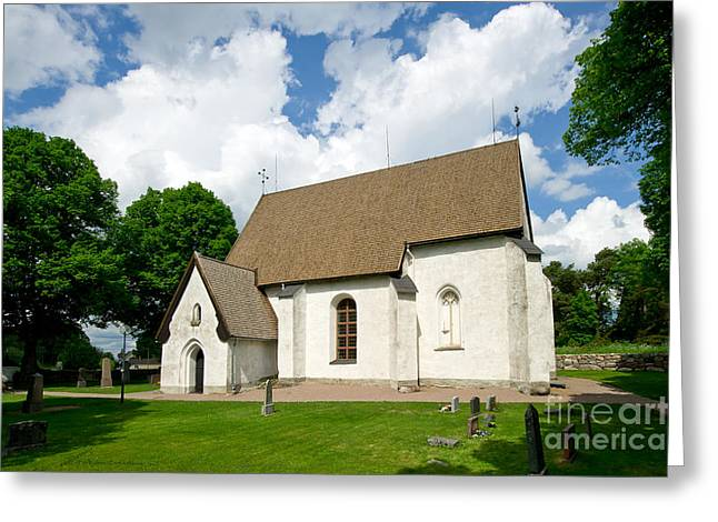 The Church In Vasteraker Greeting Card by Torbjorn Swenelius