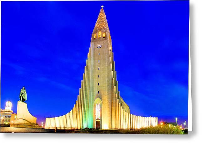 The Church Of Hallgrimur Reykjavik Greeting Card