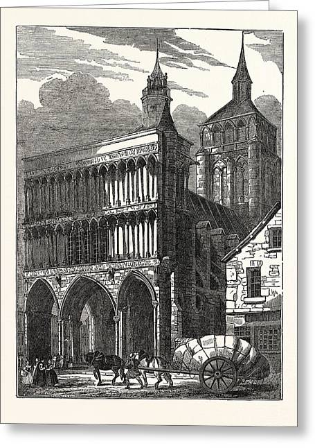 The Church Of Notre Dame At Dijon Greeting Card by French School