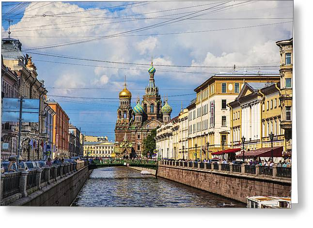 The Church Of Our Savior On Spilled Blood - St. Petersburg - Russia Greeting Card by Madeline Ellis
