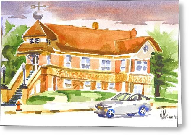 The Church On Shepherd Street Greeting Card by Kip DeVore
