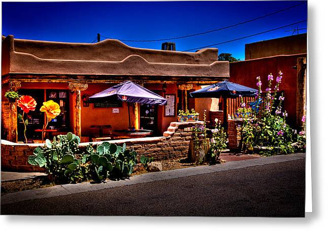 The Church Street Cafe - Albuquerque New Mexico Greeting Card by David Patterson