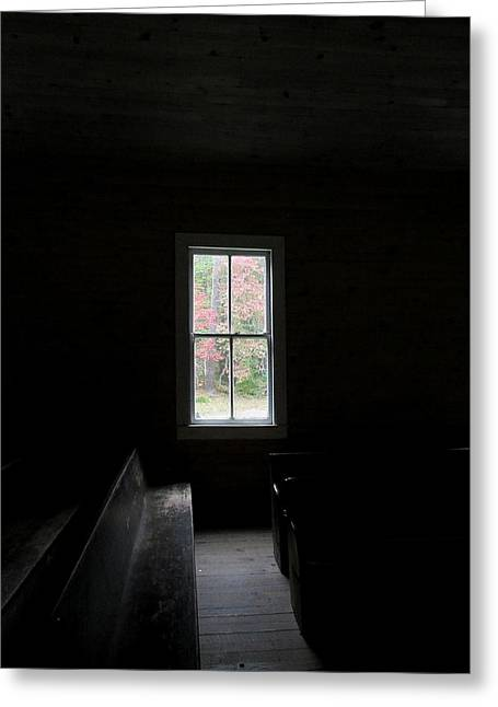 The Church Window Greeting Card