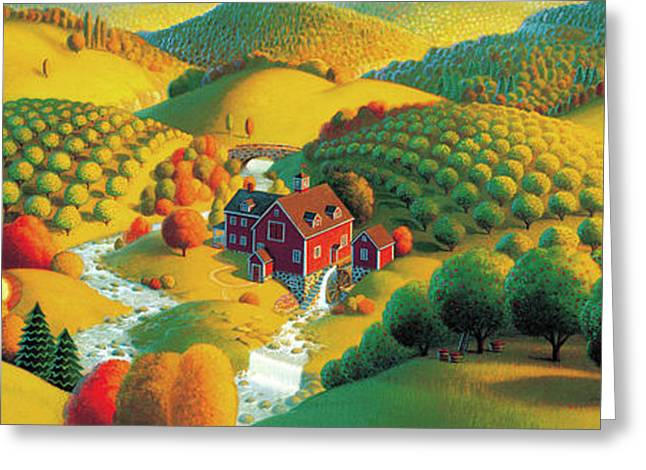 Seasonal Prints Rural Prints Greeting Cards - The Cider Mill Greeting Card by Robin Moline