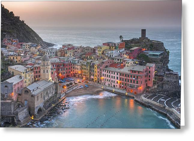 The Cinque Terre - Vernazza Morning IIi Greeting Card by Rob Greebon