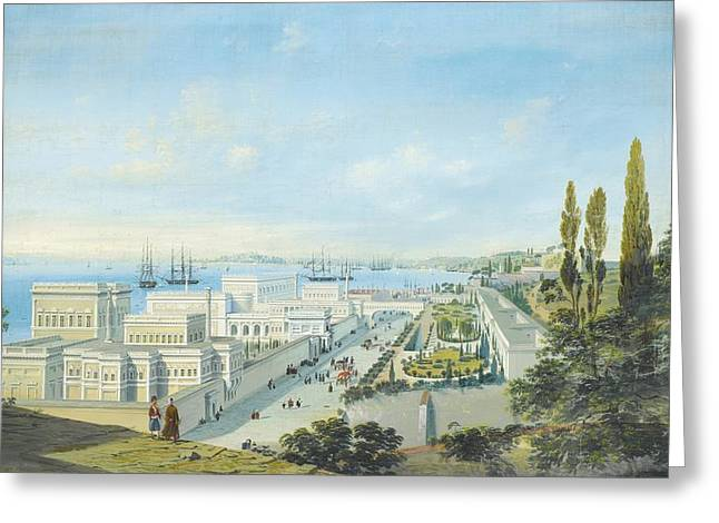 The Ciragan Palace Greeting Card by Celestial Images