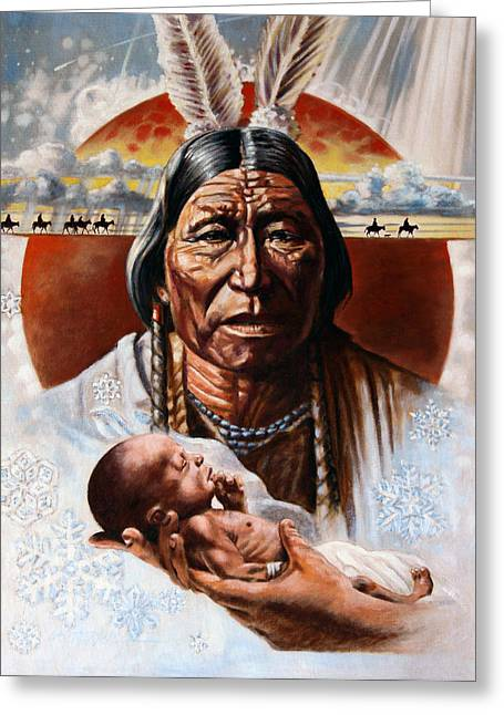 The Circle Of Life Greeting Card by John Lautermilch