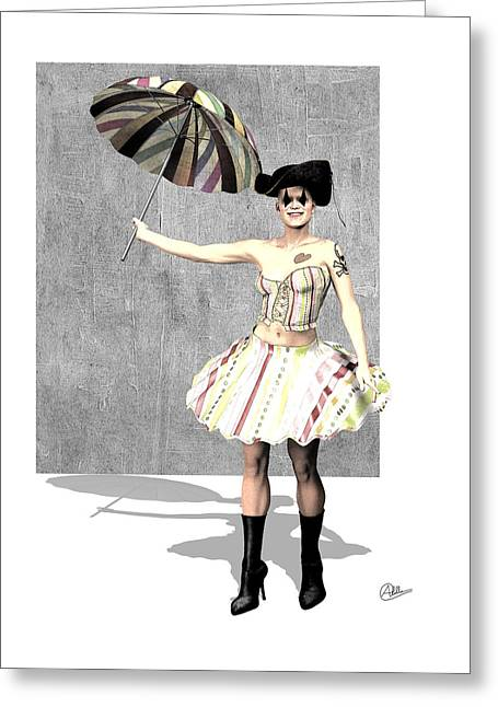 The Columbine Circus Greeting Card by Quim Abella