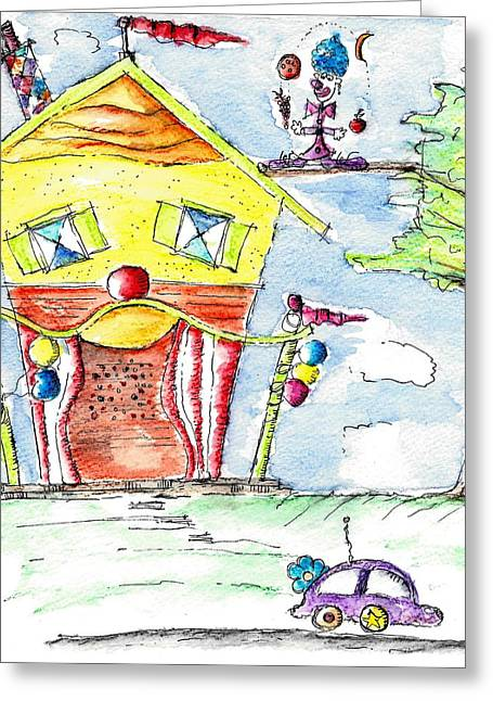 The Circus Clown Greeting Card