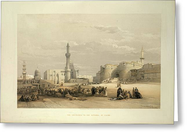 The Citadel Of Cairo Greeting Card by British Library