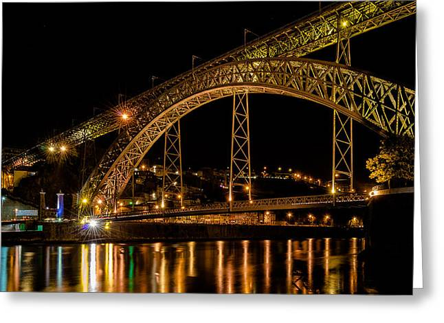 The City At Night I Greeting Card by Alexandre Martins