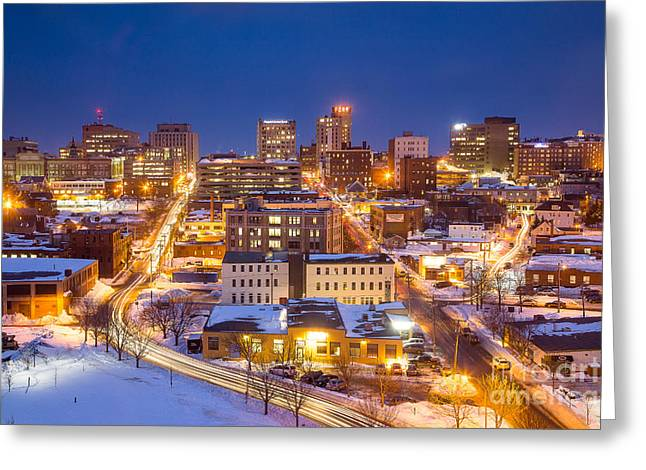 The City Electric - Portland Maine Greeting Card by Benjamin Williamson