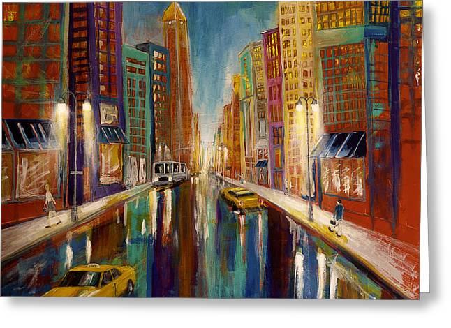 The City  Greeting Card by Gray  Artus