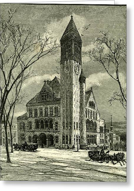 The City Hall Albany 1891 Usa Greeting Card by American School