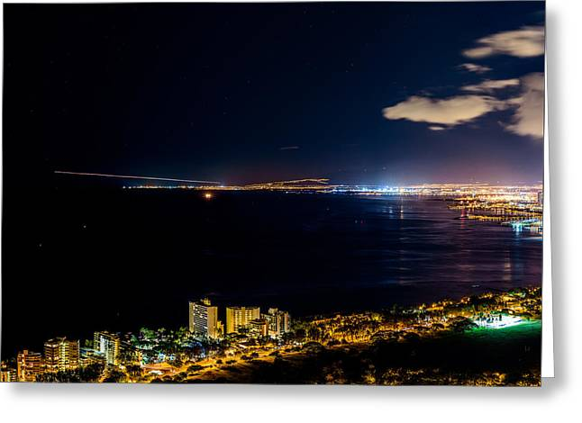 The City Of Aloha - Triptych Left Greeting Card