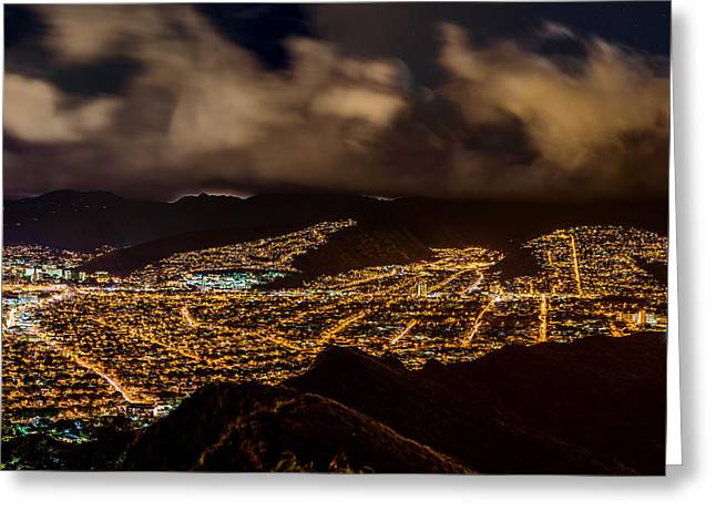 The City Of Aloha - Triptych Right Greeting Card