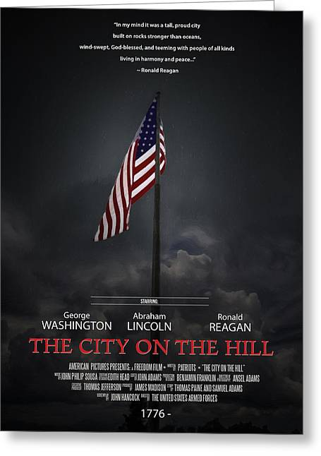 The City On The Hill Greeting Card by John Haldane