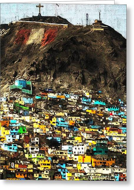 The City On The Hill V2 Greeting Card by Wingsdomain Art and Photography