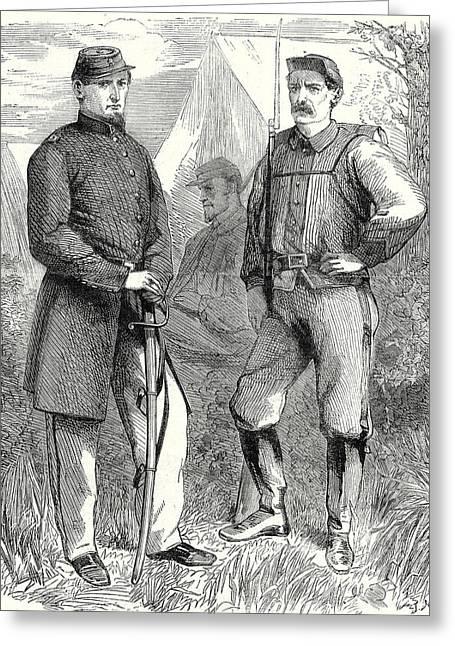 The Civil War In America Colonel Ellsworths Volunteer Greeting Card by American School