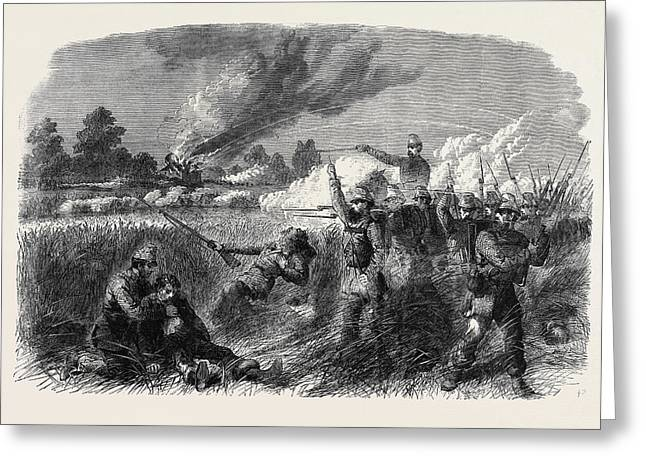 The Civil War In America Fight At Hainsville On The Upper Greeting Card