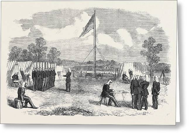The Civil War In America My Headquarters In The Camp Greeting Card by American School