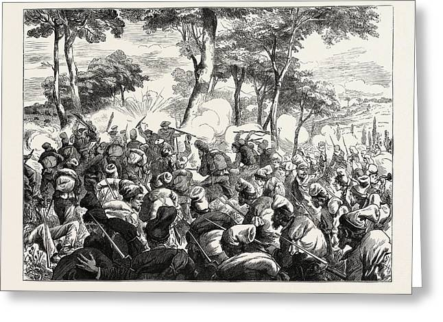 The Civil War In Spain Bayonet Charge Of Republican Greeting Card