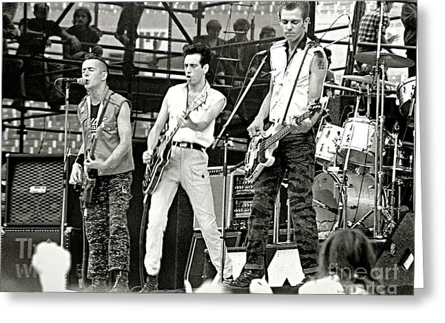 The Clash 1982 Greeting Card