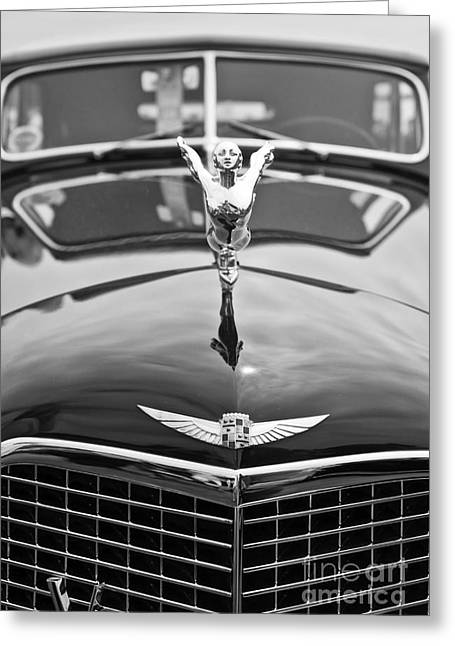 The Classic Cadillac Car At The Concours D Elegance. Greeting Card by Jamie Pham