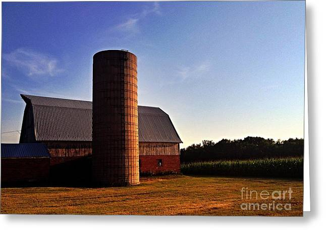 The Clayton Barn Greeting Card by Garren Zanker