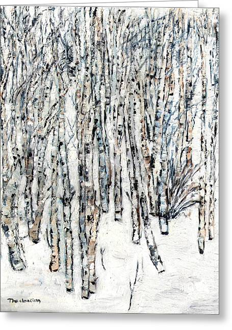 The Clearing Greeting Card by David Dossett