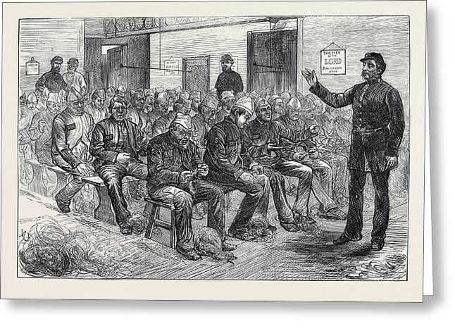 The Clerkenwell House Of Correction The Oakum Shed 1874 Greeting Card by English School