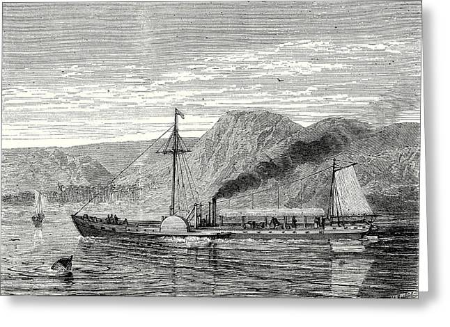 The Clermont Robert Fultons First Steamboat Sailing Greeting Card