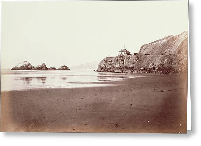 The Cliff House From The Beach Carleton Watkins Greeting Card