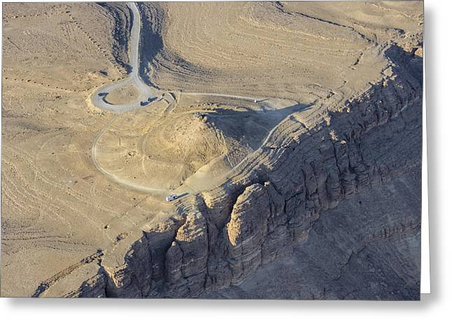 The Cliff Of Makhtesh Ramon, Negev Greeting Card