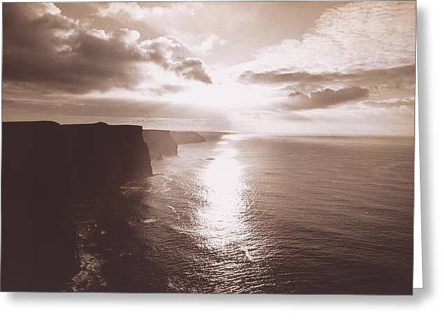 The Cliff Of Moher Ireland Greeting Card by Panoramic Images